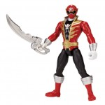 Figura de accion Power rangers super megaforce rojo con dorado