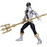 Figuras de acción Power rangers super megaforce gris con dorado